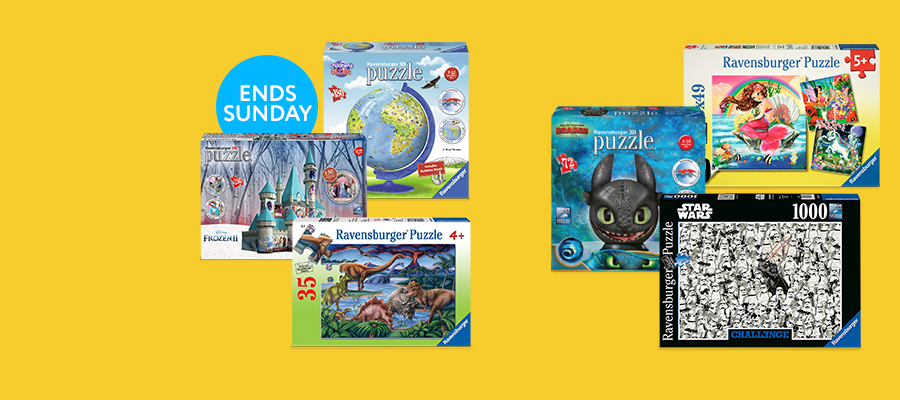 Buy 1 Get 1 50% off Ravensburger puzzles
