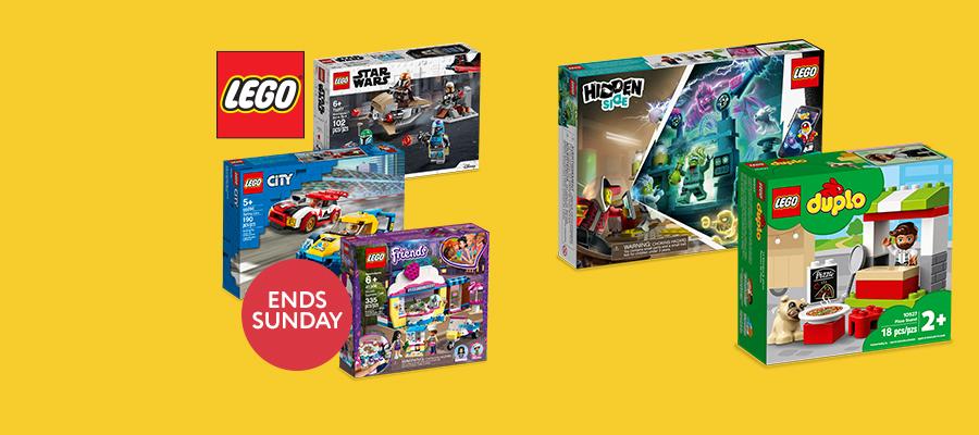 20% off LEGO® Star Wars™, Friends, City, Hidden Side & DUPLO®