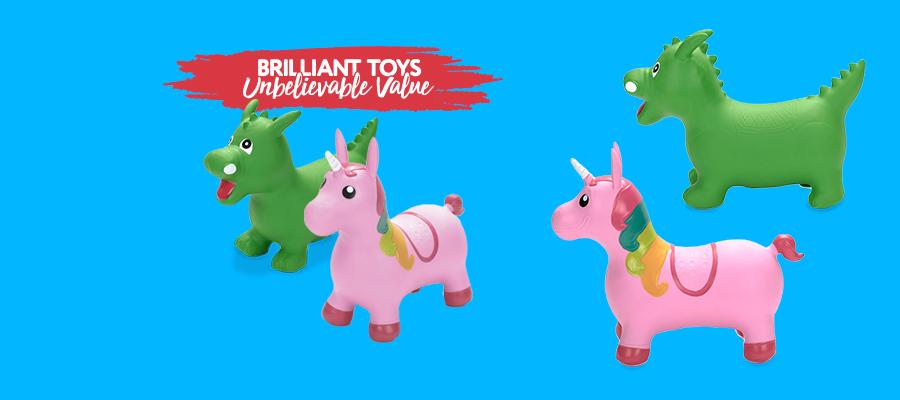 40% off Jumping Unicorn & Dragon Now $17.99 ea Reg. $29.99 ea