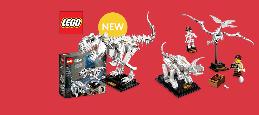 LEGO® Ideas Dinosaur Fossils - A must-have set for dinosaur fans