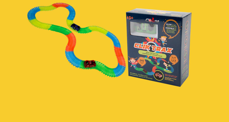 'Get glowing – Clik Trax is 12' of racing fun