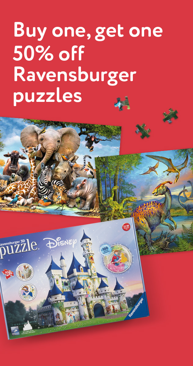 Buy one Ravensburger puzzle, get one 50% off