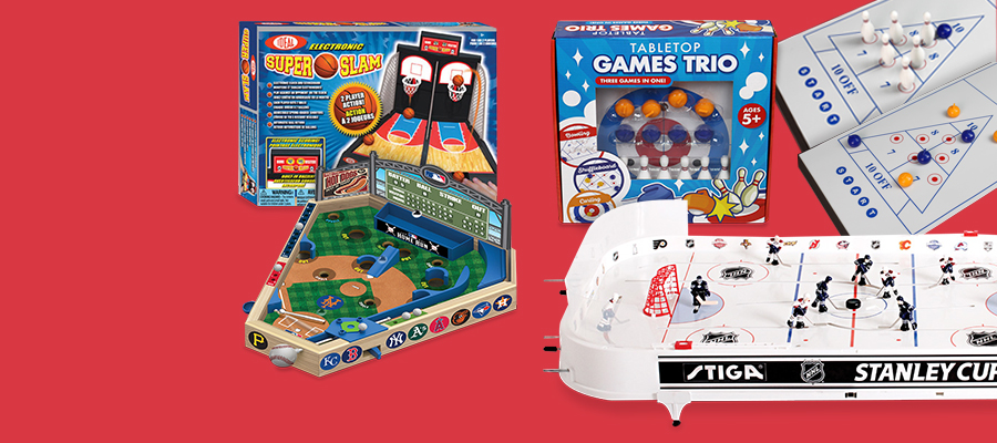 Tabletop sports that make anywhere an arena