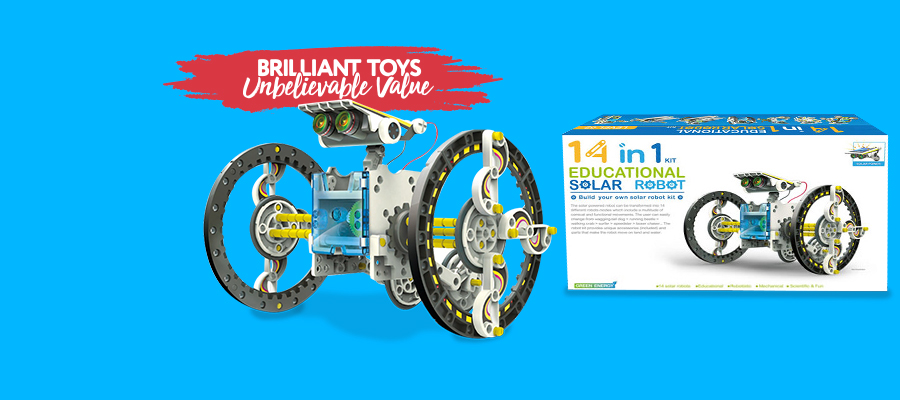 40% off 14-in-1 Educational Solar Robot Kit - Now $23.99