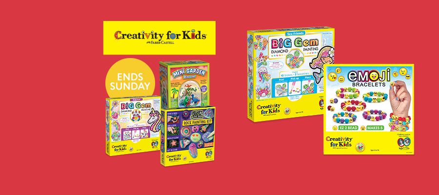 20% off Creativity For Kids craft kits
