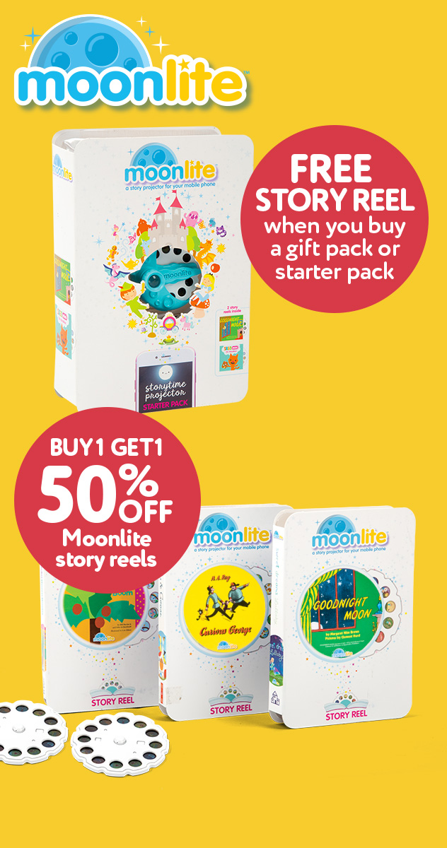 Buy the Moonlite Starter or Gift Pack, get a FREE story reel
