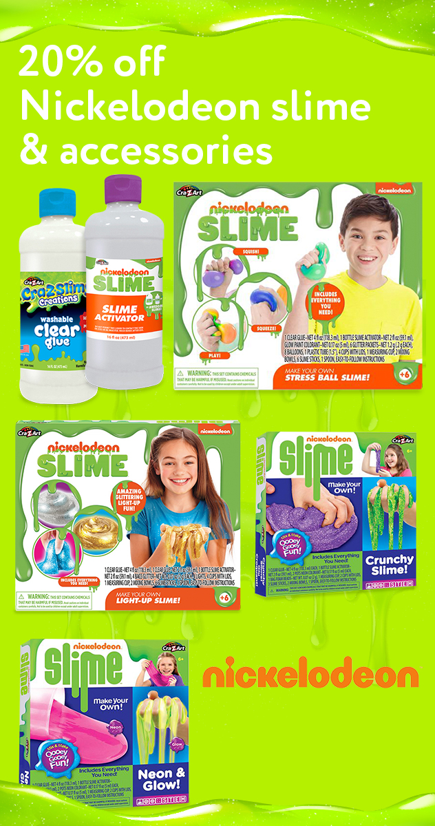 20% off Nickelodeon slime & accessories