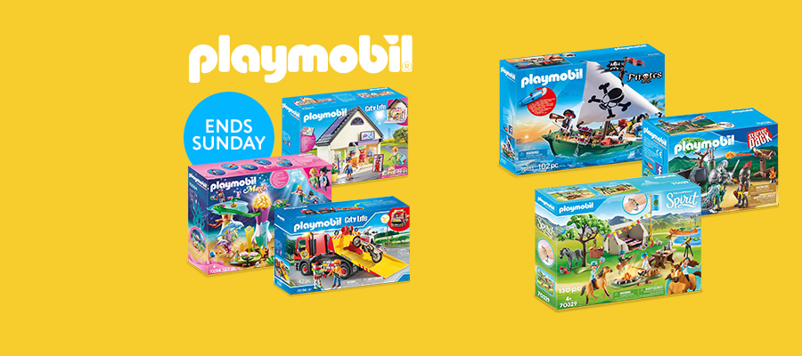 25% off Playmobil play sets
