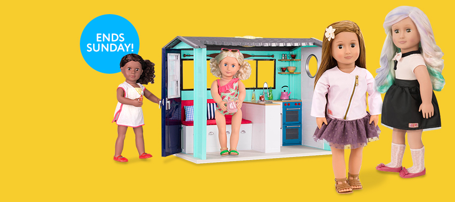 20% off Our Generation dolls, play sets & fashions