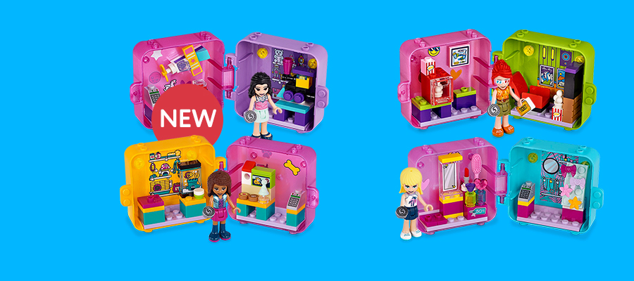 LEGO® Friends™ Shopping Play Cubes - Mini collectibles that are big on fun!