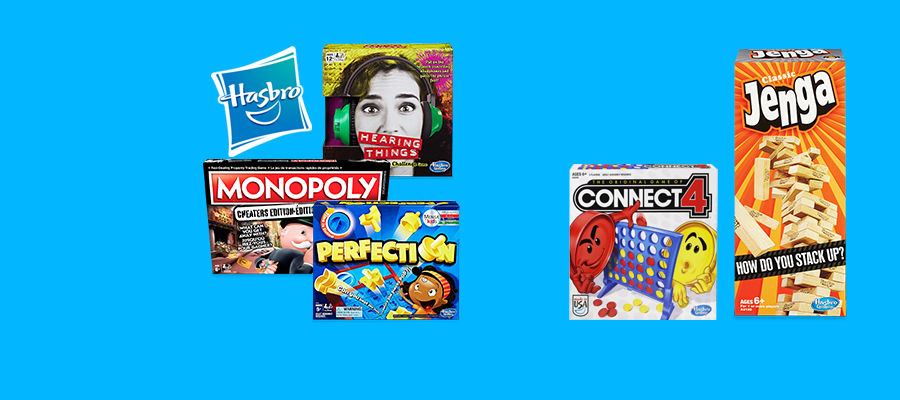 Buy one get one 50% off Hasbro games