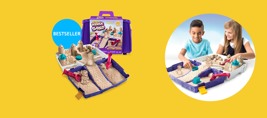 Kinetic Sand Folding Sand Box Squeezable sand that never dries out!