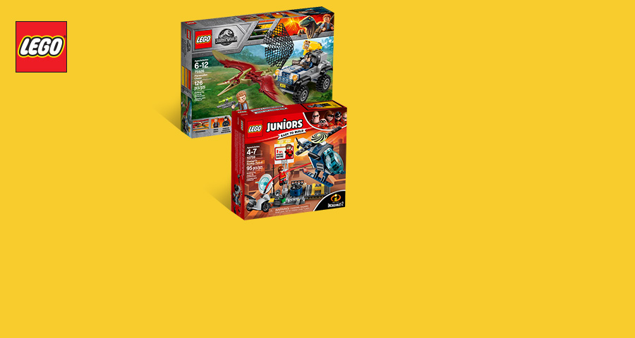 'New LEGO® Jurassic World™, The Incredibles 2, Star Wars™ & more