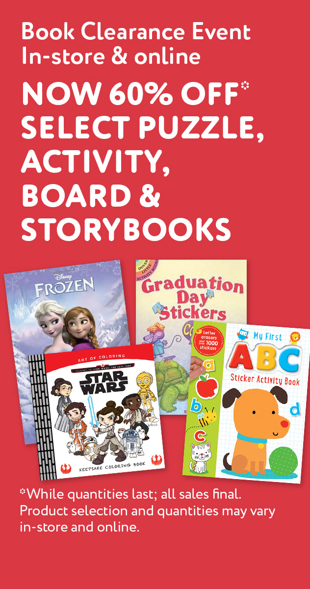 Spring Clearance Event | In-store & online. 60% off select puzzle, activity, board & storybooks