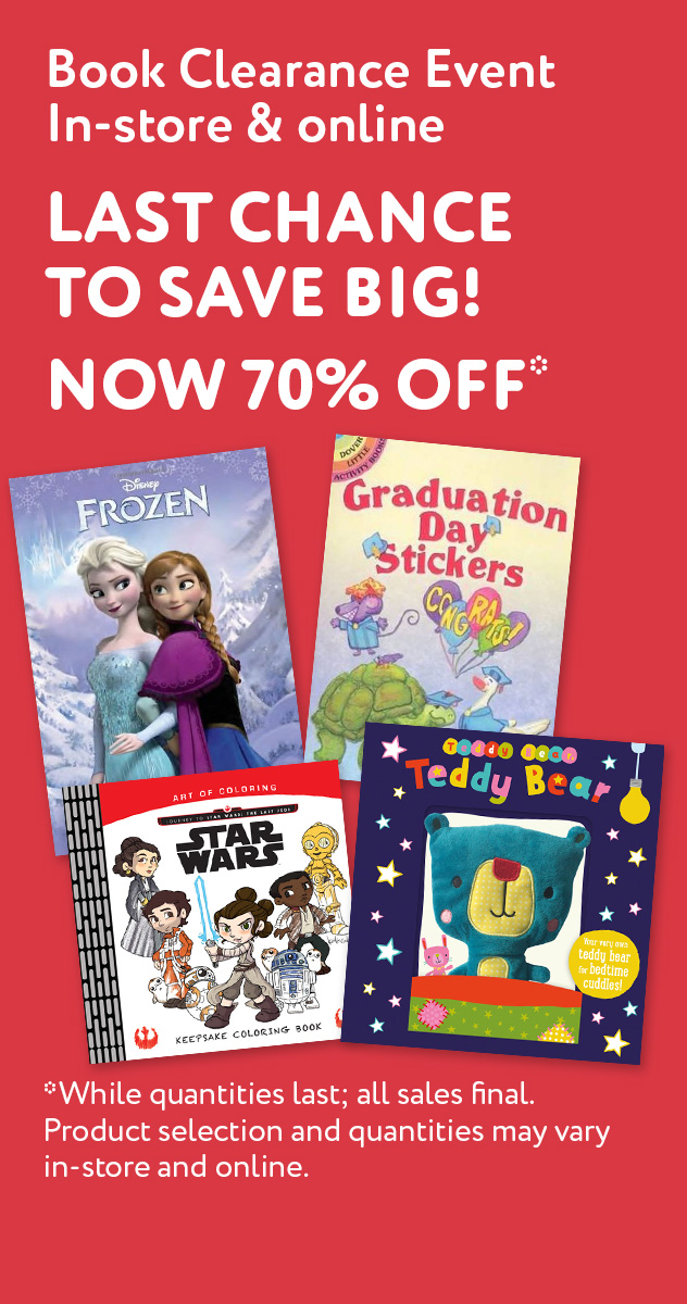 Spring Clearance Event | In-store & online. 70% off select puzzle, activity, board & storybooks