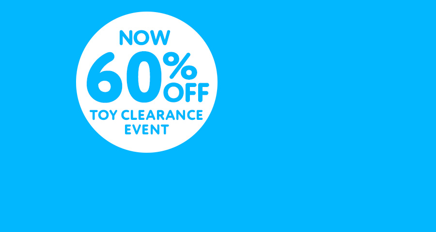 Now 60% off Toy Clearance Event