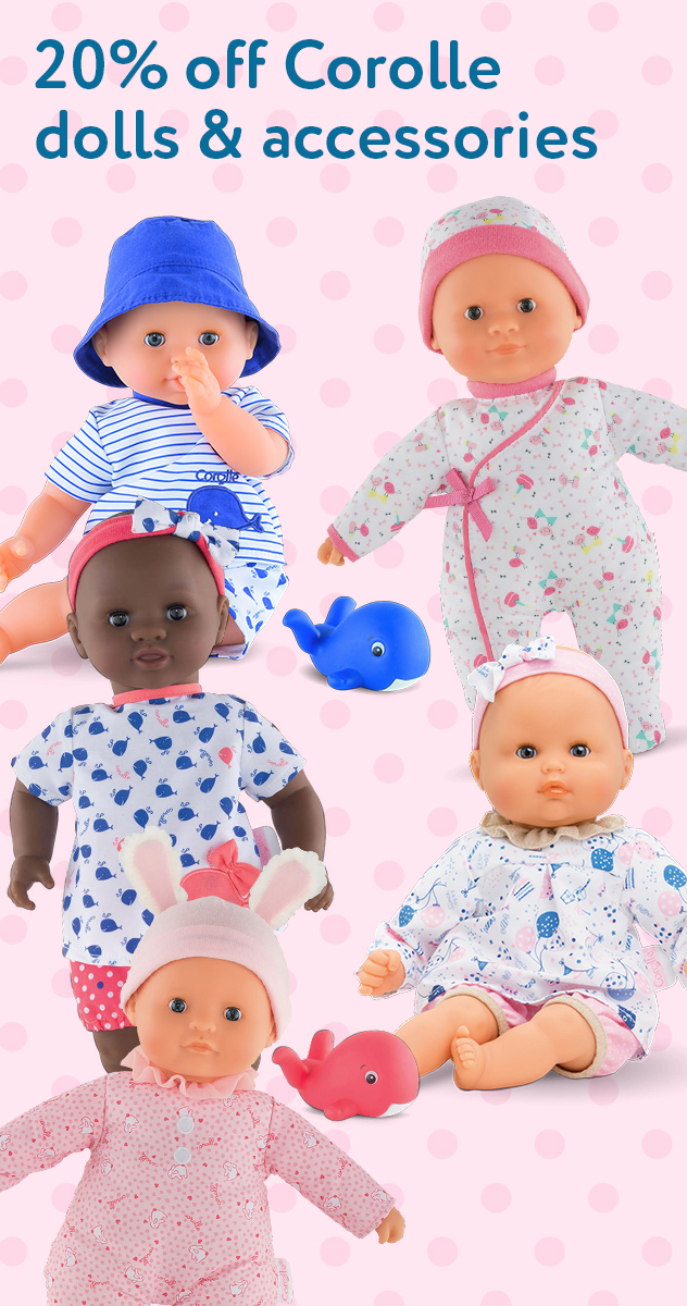 20% off Corolle dolls & accessories