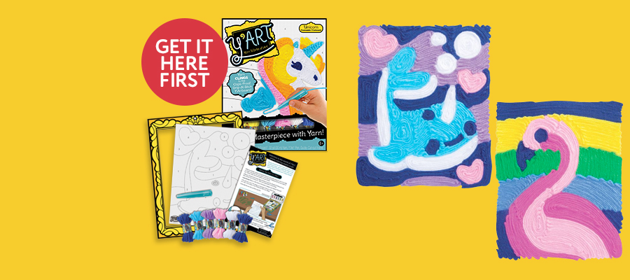 Y'Art™ Craft Kits: Colour-by-numbers with yarn!