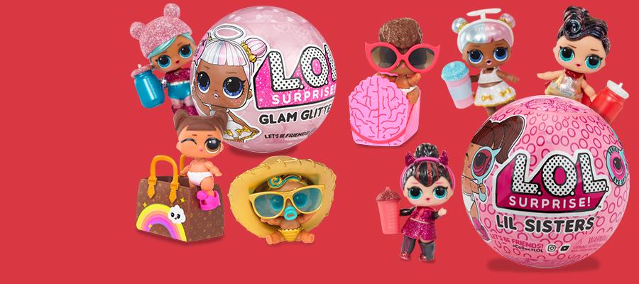 NEW L.O.L. Surprise! Tots Glam Glitter & LIL Sisters
