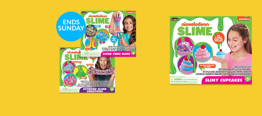 Nickelodeon Slime – select kits; 1 for $15 or 2 for $25
