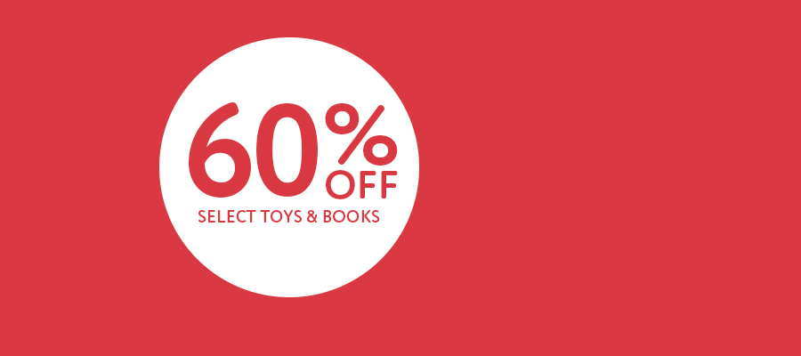 Summer Clearance - Now 60% off select toys & books
