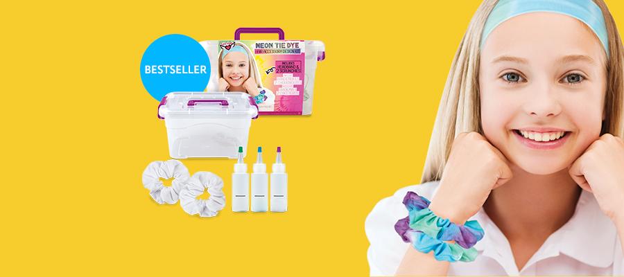 Fashion Angels Neon Tie Dye Hair Accessory Design Kit