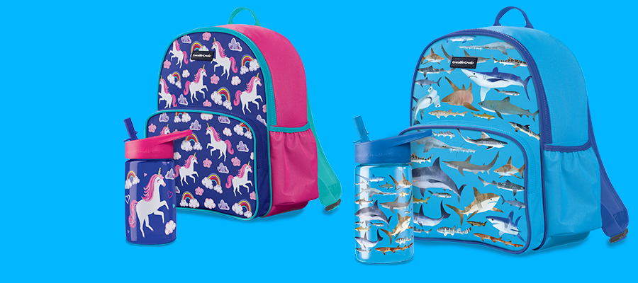 FREE Tritan water bottle with Crocodile Creek backpack purchase