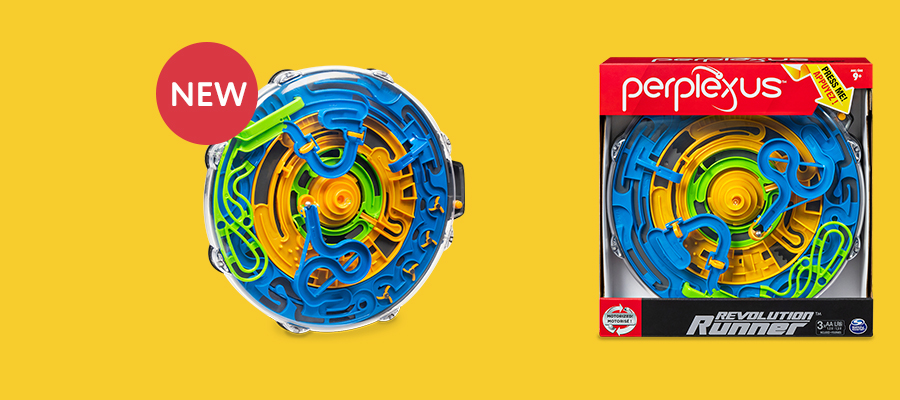 Perplexus Revolution Runner: motorized, perpetual motion 3D maze