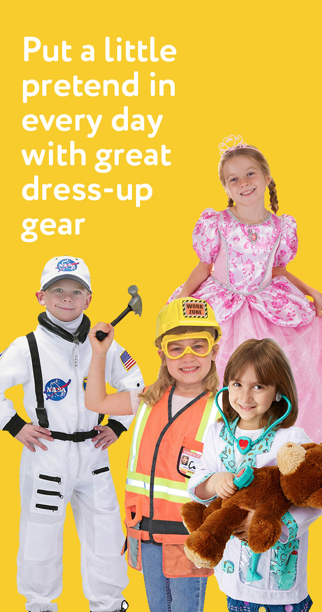 Put a little pretend in every day with great dress-up gear