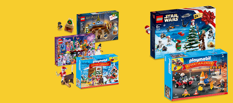 20% off LEGO® & PLAYMOBIL Advent Calendars